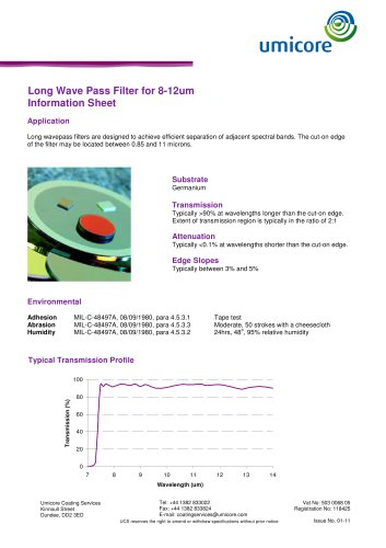 Filters: long-wave pass