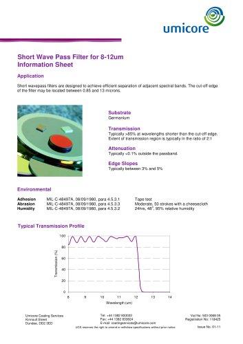 Filters: Short-Wave Pass