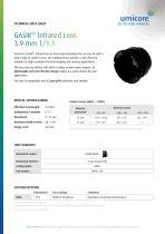 GASIR® Infrared Lens 3.9 mm f/1.1