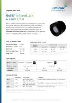 GASIR® Infrared Lens 6.2 mm f/1.0