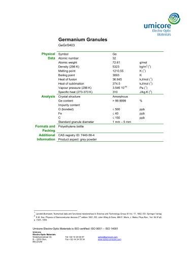Germanium Granules