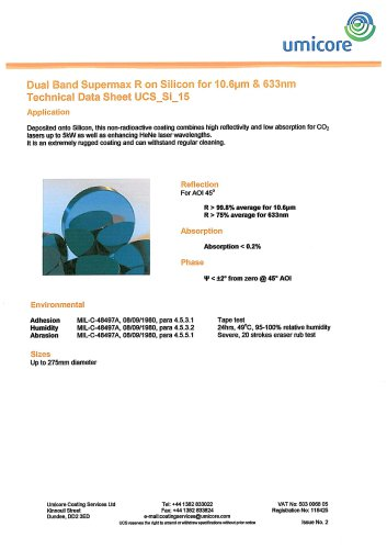 Silicon Coatings: DualBand Supermax R