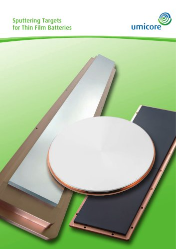 Sputtering targets for thin film batteries