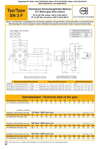 Catalogue page SN3F - DC