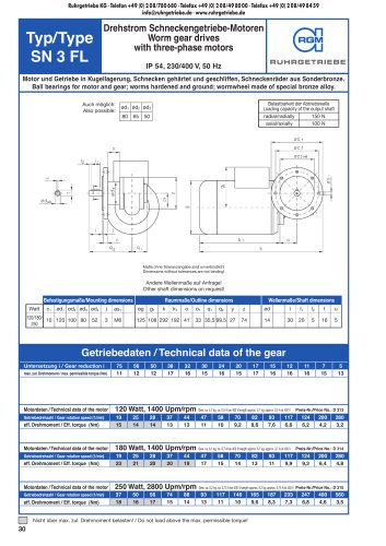 Catalogue page SN3FL - AC