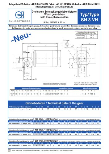Catalogue page SN3VH - AC