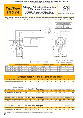Catalogue page SN3VH - DC
