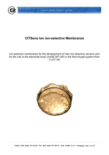CITSens Ion product information ion-selective membrane