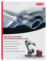 WELDING SOLUTIONS FOR AUTOMOTIVE EXHAUST SYSTEMS