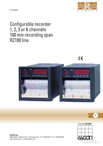 Configurable recorder 1,2,3 or 6 channels, 100 mm recording width