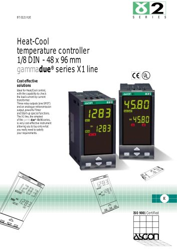 Heat-Cool temperature controller 1/8 DIN - 48 x 96 mm