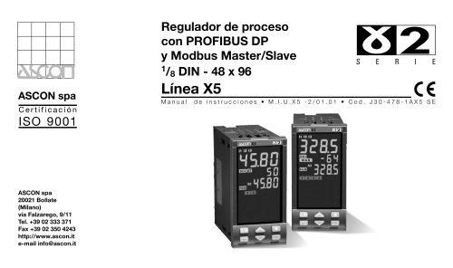 Regulador de proceso con PROFIBUS DP y Modbus Master/Slave
