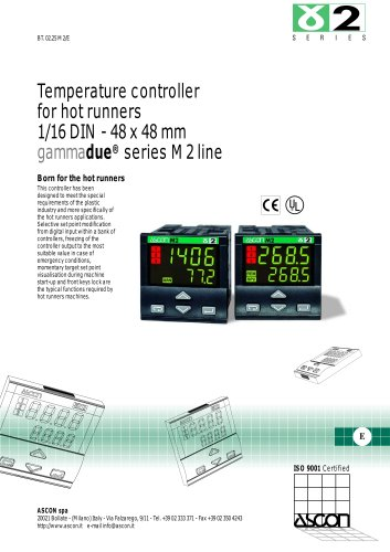 Temperature controller for hot runners 1/16 DIN - 48 x 48 mm