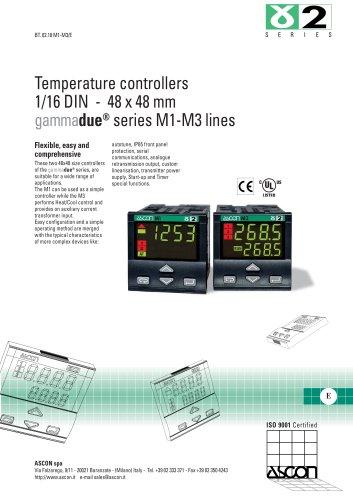 Temperature controllers 1/16 DIN - 48 x 48 mm