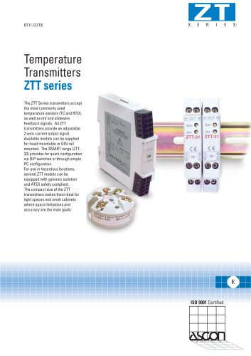 Temperature Transmitters ZTT series