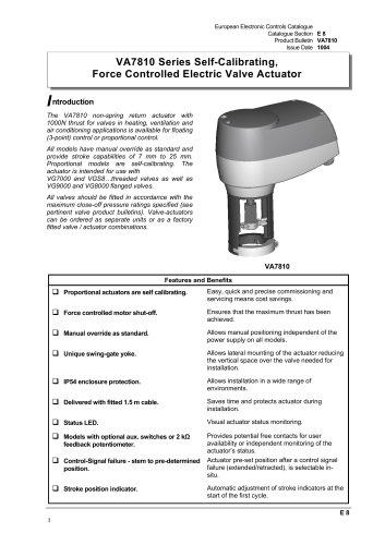 VA7810 Series Self-Calibrating