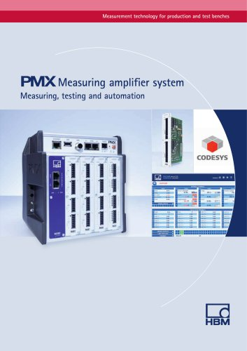 PMX Measuring amplifier system