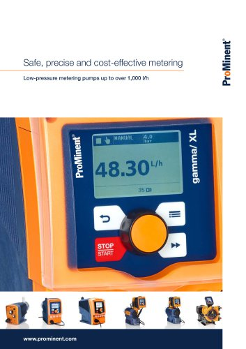 Low-pressure metering pumps up to over 1,000 l/h