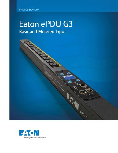 Eaton ePDU G3: Basic and Metered Input brochure