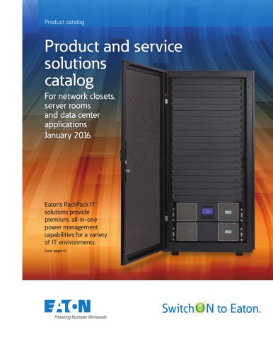 Product and service solutions catalog