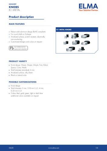 K1 Metal Knobs_Datasheet_E