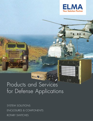 Products and Services for Defense Applications