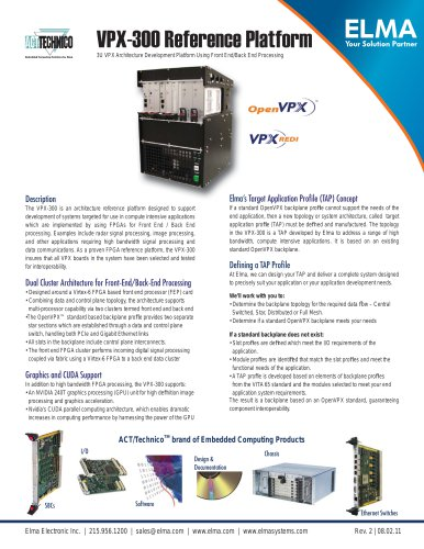 VPX-300 Reference Development Platform for OpenVPX Systems with Virtex 6 FPGA and GPGPU for High Speed Signal Processing