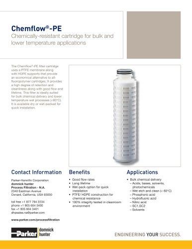 Chemflow-PE Filter Cartridges