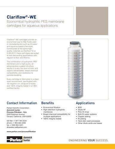 Clariflow-WE Filter Cartridges