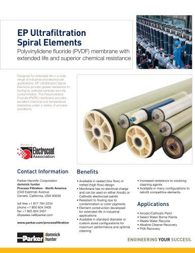 EP Ultrafiltration Spiral Elements