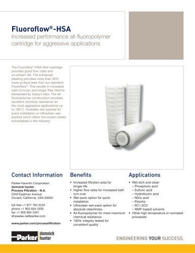 Fluoroflow-HSA Filter Cartridge
