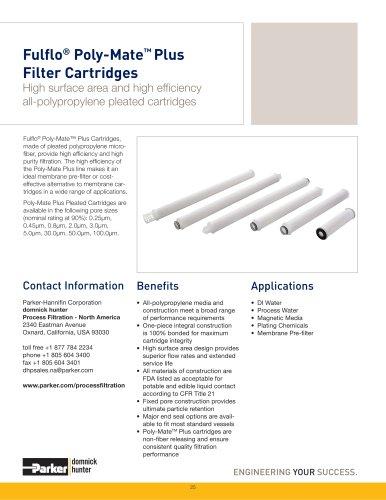 Fulflo Poly-Mate Plus Filter Cartridges
