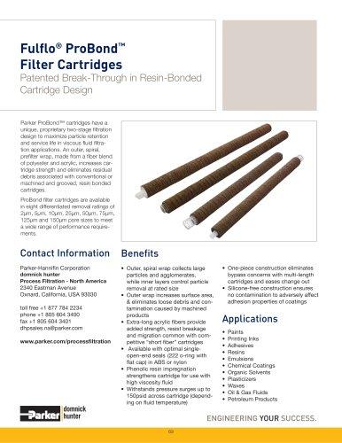 Fulflo ProBond Filter Cartridges