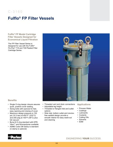 Housings - Fulflo FP Filter Vessels Multi-Cartridge