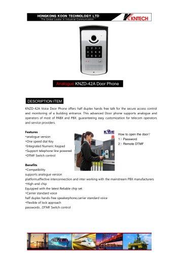 Analogue doorphone knzd42A
