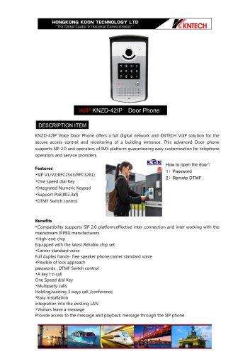 IP door phone  KNZD-42 IP