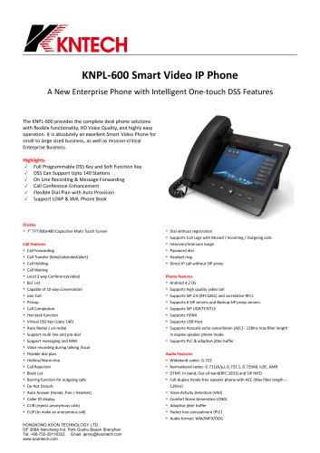 KNPL600 Smart video IP phone