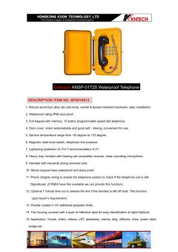 KNSP-01T2S analogue waterproof telephone