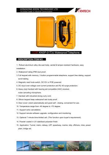 VoIP weatherproof telephone KNSP-01T3J