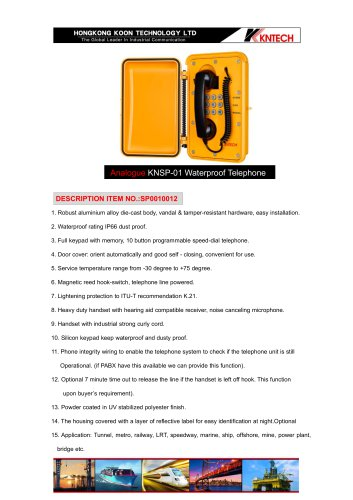 water proof voip telephone