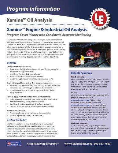 Xamine Oil Analysis