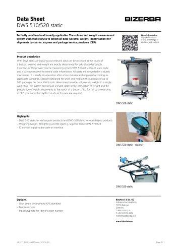 DWS 510/520 static