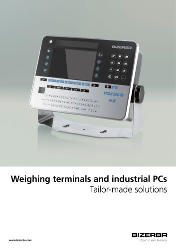 Weighing terminals and industrial PCs Tailor-made solutions