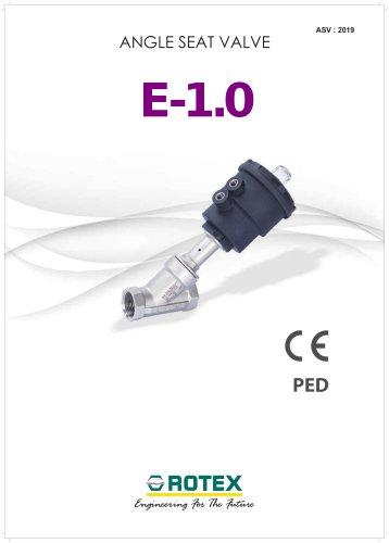 ANGLE SEAT VALVE  E-1.0