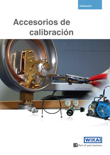 Accessories for calibration technology