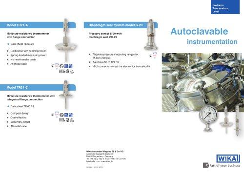 Autoclavable instrumentation
