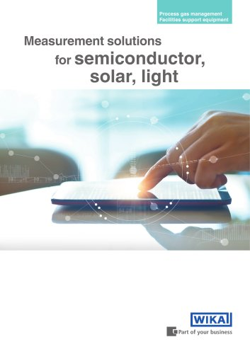 Measurement solutions for semiconductor, solar, light