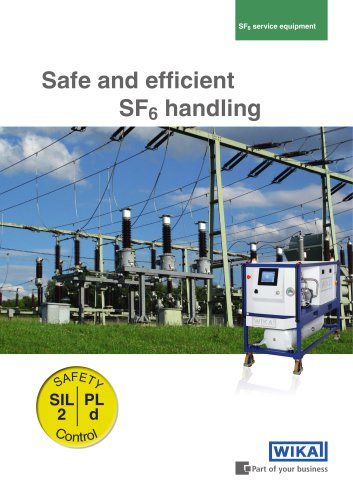 Safe and efficient SF6 handling, GPU-2000