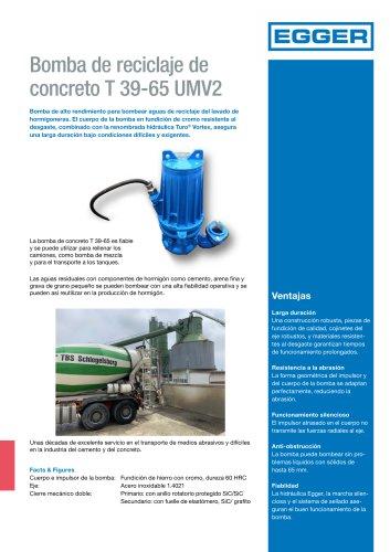 Bomba de reciclaje de concreto