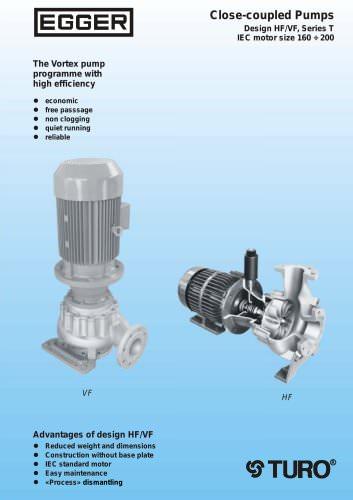 Egger Closed coupled pumps horizontal / vertical